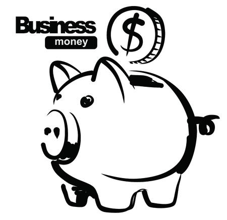 piggy bank: illustration of piggy bank Illustration