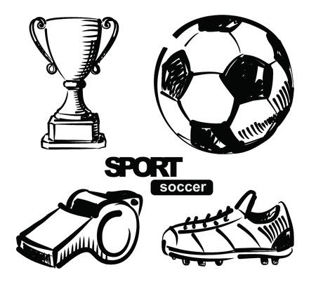 ilustración de fútbol Foto de archivo - 17525059