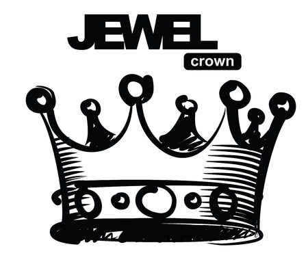 corona rey: negro corona Vectores