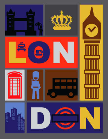 bus anglais: ic�nes london