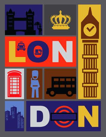 londres autobus: londres iconos Vectores
