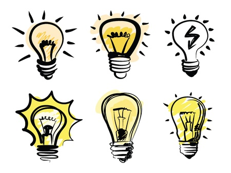 shining light: bombillas icono