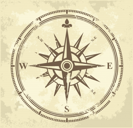 vintage compass: vintage compass