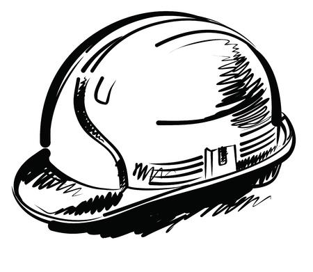 bauarbeiterhelm: Kelle und Ziegel Illustration
