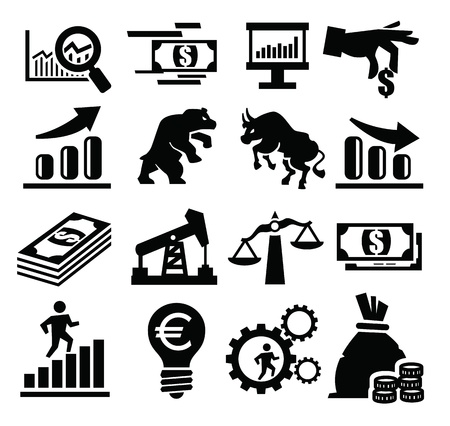 stock clip art icon: business icon