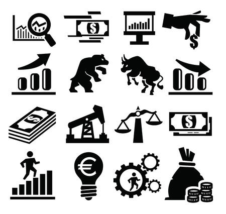 agente comercial: icono empresarial Vectores