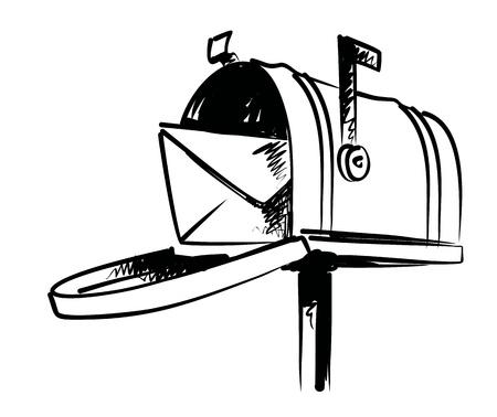 illustration of mailbox Vector