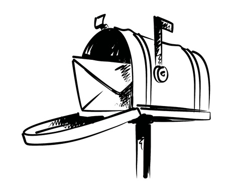 delivered: illustration of mailbox Illustration