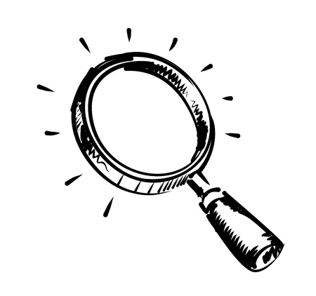 laboratory glass: magnifying glass Illustration