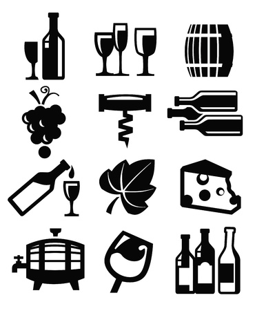 barrels set: wine icon
