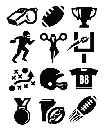 american football helmet set: american football icon Illustration