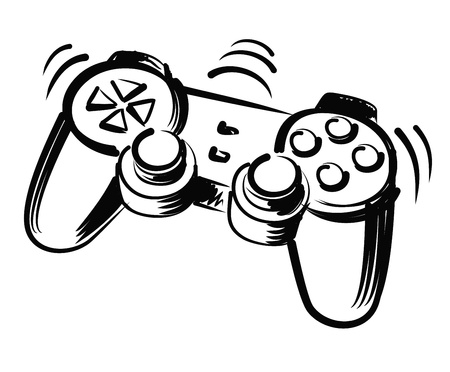 obesity kids: illustration of joystick