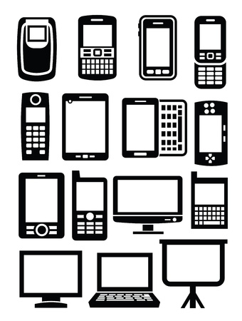 gadgets with screen Stock Vector - 17667903