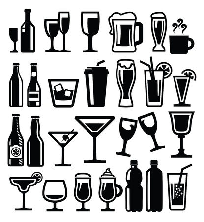 alcoholic drinks: beverages icon