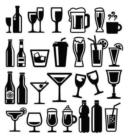 alcoholist: dranken pictogram Stock Illustratie