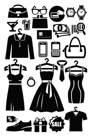 clothing shop icon Vector