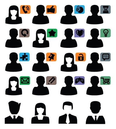 people icons Stock Vector - 17665501