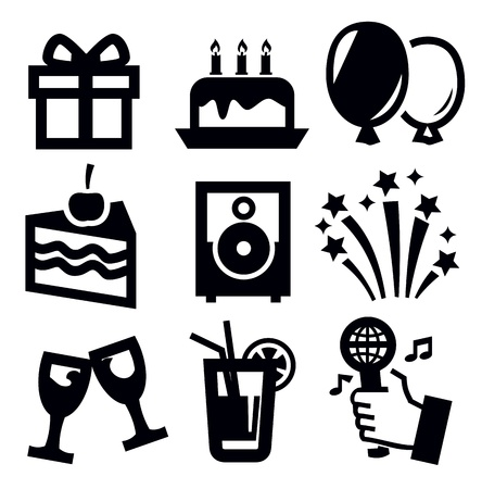 happy birthday cake: birthday icon