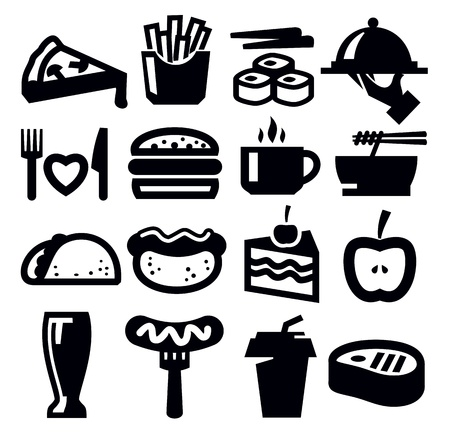 pasta isolated: food icons