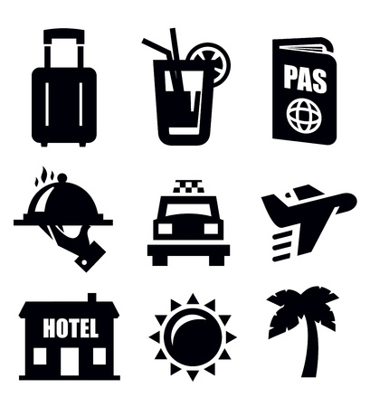 hotel sign: travel icon