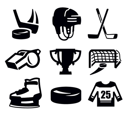 hockey icon Stock Vector - 17954948