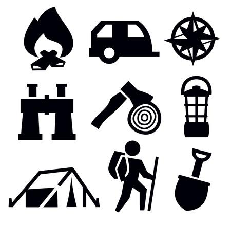 camping icon  Vector