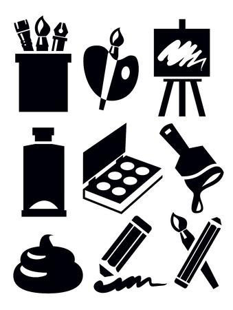 sketchpad: art icon Illustration