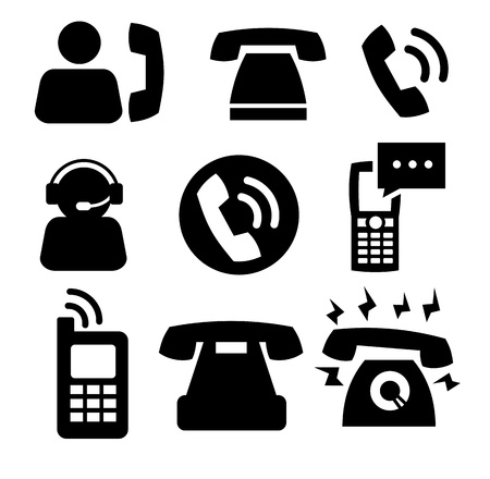 phone icons Stock Vector - 18160504