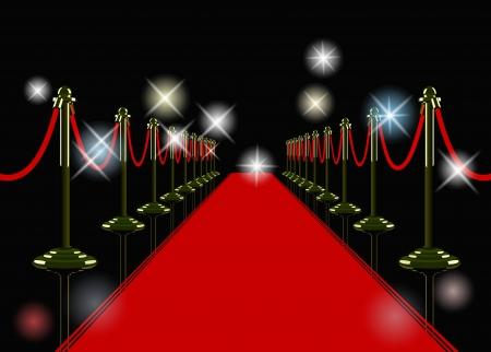 celebrities: rode loper Stock Illustratie