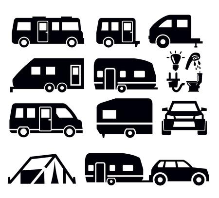 remolques: Camper Van iconos
