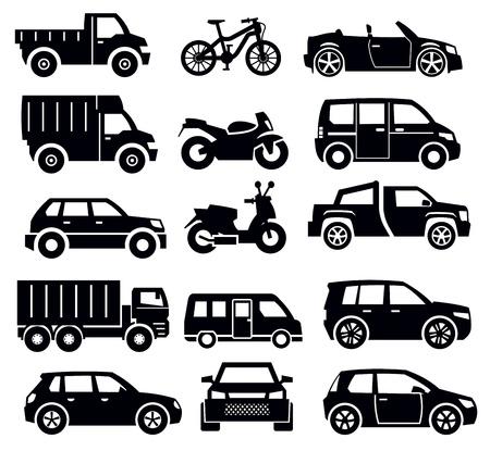 jeep: transportation icon set
