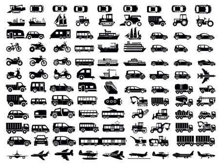 transportation icons: transportation icon