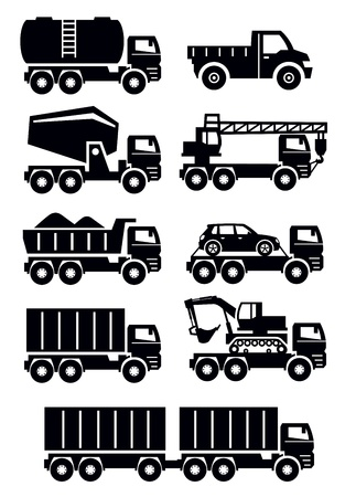 earth mover: transport icons