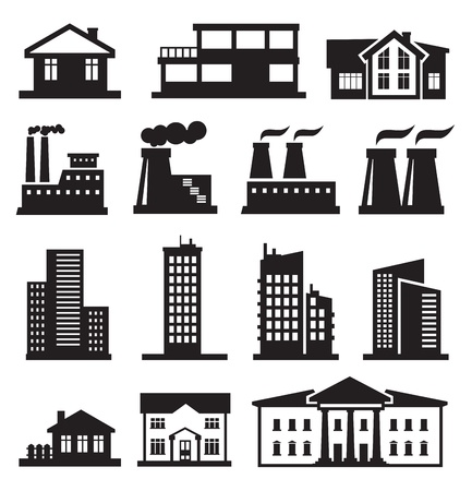 buildings and factories Stock Vector - 18709098