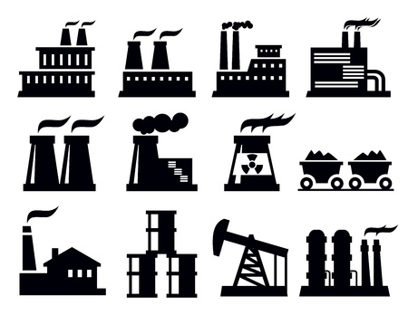 chimneys: building factory icon