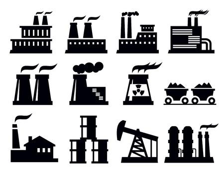 icono contaminacion: la construcci�n de la f�brica icono