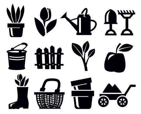 gardening icons Stock Vector - 18709097