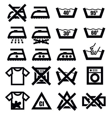 wassen tekenen en kleding