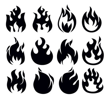 fire icon Stock Vector - 18847085