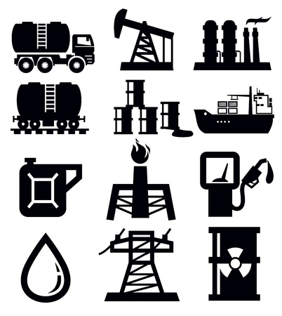 industrial ship: oil icons