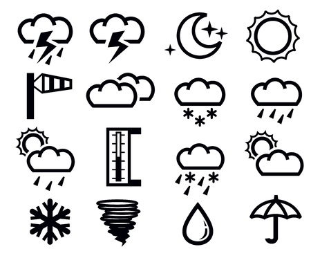 weather icons Stock Vector - 18847093