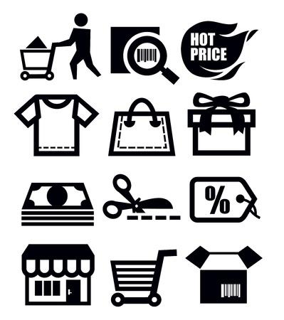 e commerce icon: shopping icons