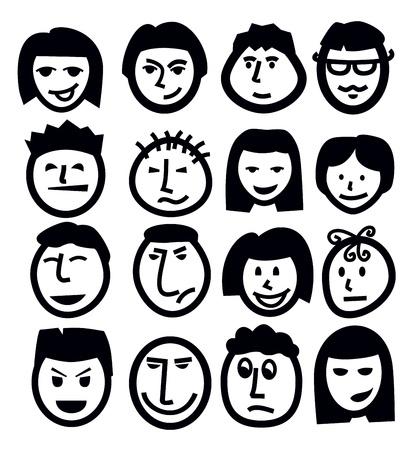 bocetos de personas: cara icono