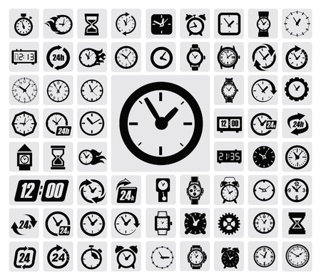 icons: clocks icon