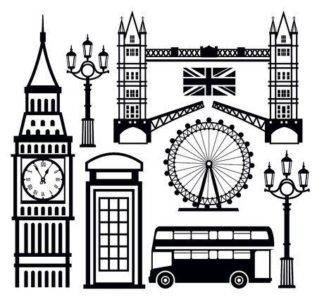 london eye: london icon Illustration