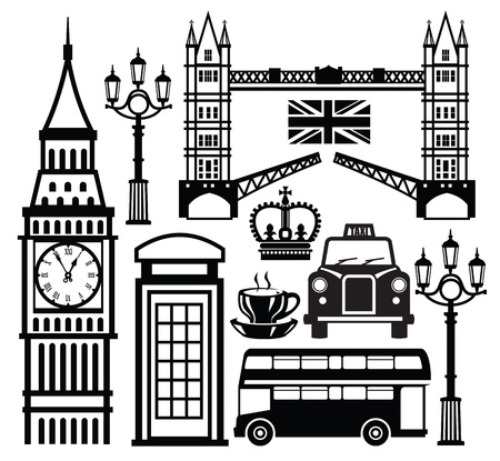 london tower bridge: london icon Illustration