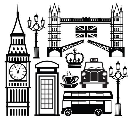 bus anglais: londres icône