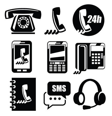 phone icons Stock Vector - 19046829