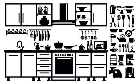 black appliances: icona di cucina Archivio Fotografico