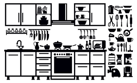 black appliances: kitchen icon